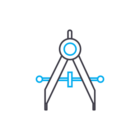 Dimensioning line icon, vector illustration. Dimensioning linear concept sign.