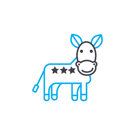 Donkey line icon, vector illustration. Donkey linear concept sign.
