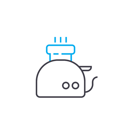 Electric kettle line icon, vector illustration. Electric kettle linear concept sign.