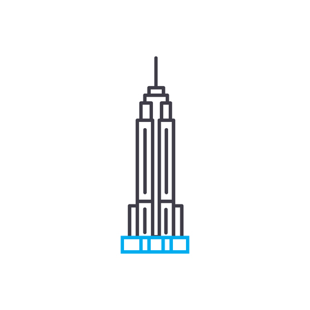 Empire state building line icon, vector illustration. Empire state building linear concept sign.