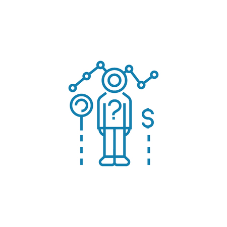 Employee performance line icon, vector illustration. Employee performance linear concept sign.
