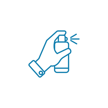 Icono de línea de desinfectantes, ilustración vectorial. Signo de concepto lineal de desinfectantes. Foto de archivo - 101919298