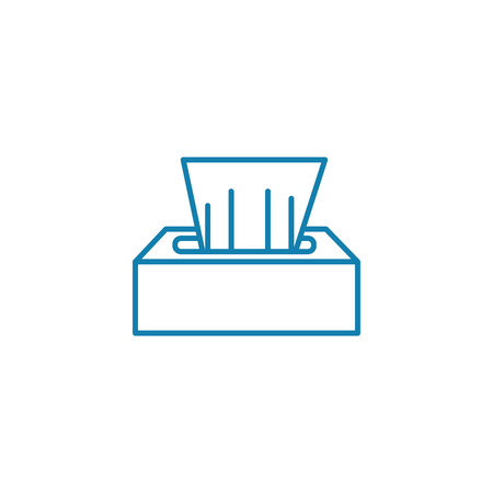 Disinfecting wipes line icon, vector illustration. Disinfecting wipes linear concept sign.  イラスト・ベクター素材