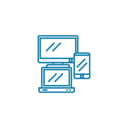 Electronics line icon, vector illustration. Electronics linear concept sign.