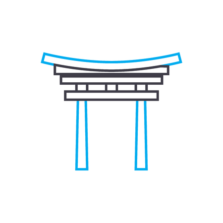 Entrance arch line icon, vector illustration. Entrance arch linear concept sign. 写真素材 - 101937808