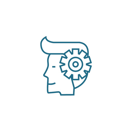 Entrepreneurial spirit line icon, vector illustration. Entrepreneurial spirit linear concept sign.