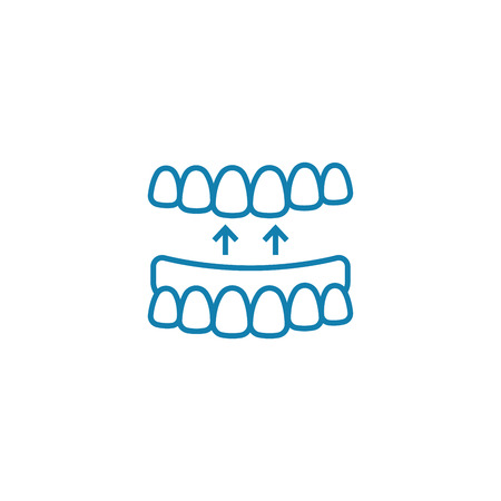 False jaw line icon, vector illustration. False jaw linear concept sign.