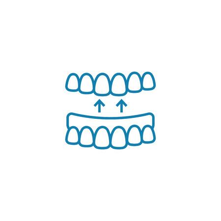 False jaw line icon, vector illustration. False jaw linear concept sign.
