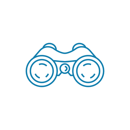 Field-glasses line icon, vector illustration. Field-glasses linear concept sign.