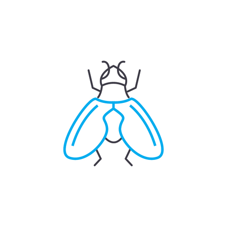 Fight against insects line icon, vector illustration. Fight against insects linear concept sign. Illustration