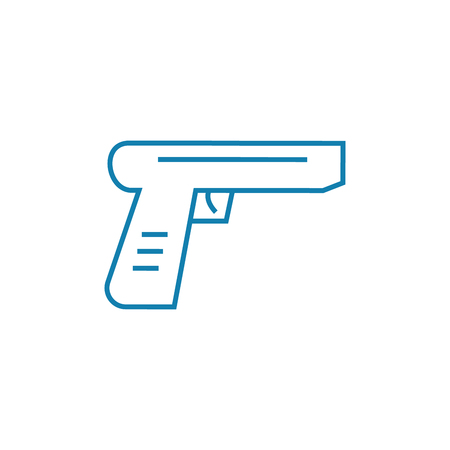 Firearms line icon, vector illustration. Firearms linear concept sign.