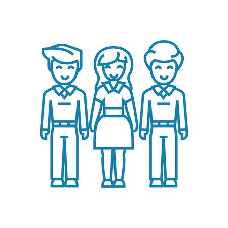 Family bonds line icon, vector illustration. Family bonds linear concept sign.