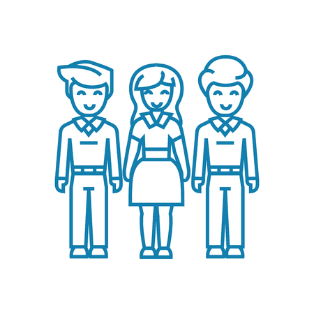 Family bonds line icon, vector illustration. Family bonds linear concept sign.