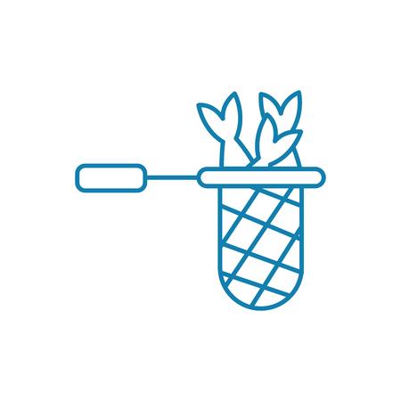 Fishing skill line icon, vector illustration. Fishing skill linear concept sign.