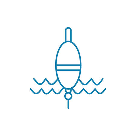 Fishing float line icon, vector illustration. Fishing float linear concept sign. Иллюстрация