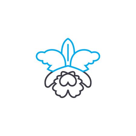 Flowering plants line icon, vector illustration. Flowering plants linear concept sign.