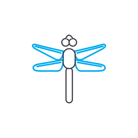Flying insects line icon, vector illustration. Flying insects linear concept sign.