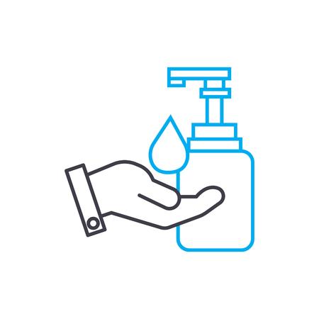 Following sanitary code line icon, vector illustration. Following sanitary code linear concept sign.