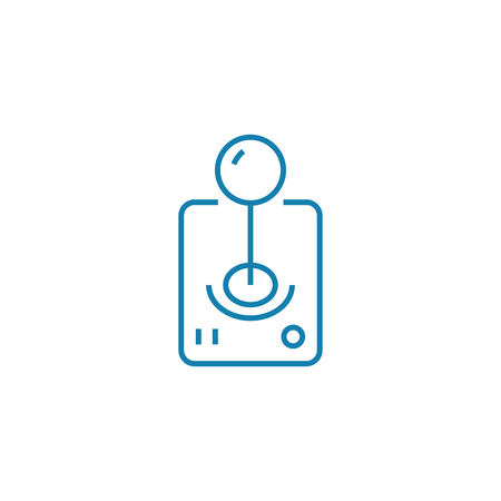 Game manipulator line icon, vector illustration. Game manipulator linear concept sign.