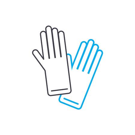 Garden gloves line icon, vector illustration. Garden gloves linear concept sign.