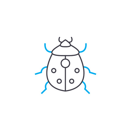 Garden pests line icon, vector illustration. Garden pests linear concept sign.