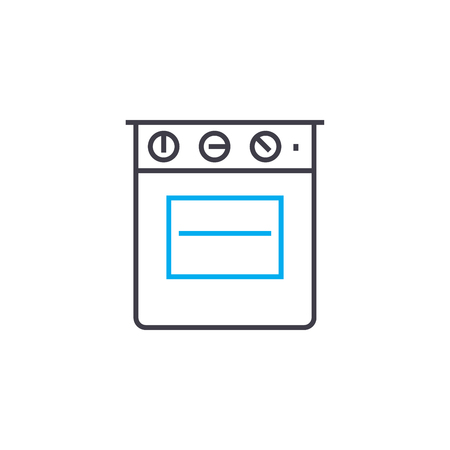 Gas stove line icon, vector illustration. Gas stove linear concept sign.
