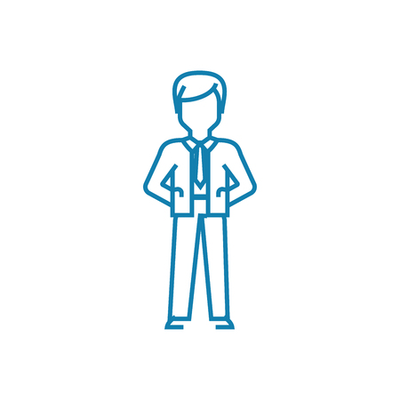 General manager line icon, vector illustration. General manager linear concept sign.