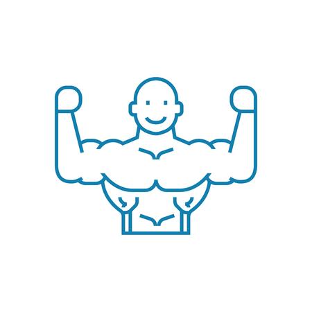Healthy lifestyle line icon, vector illustration. Healthy lifestyle linear concept sign. Illustration