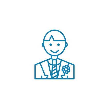 Groom line icon, vector illustration. Groom linear concept sign. Illustration