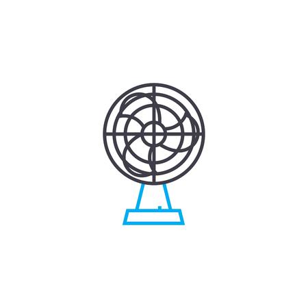 Home fan line icon, vector illustration. Home fan linear concept sign. Ilustração