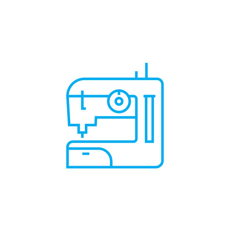 Home sewing line icon, vector illustration. Home sewing linear concept sign.