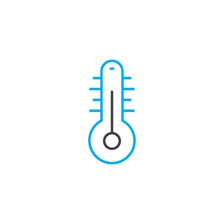 Home temperature line icon, vector illustration. Home temperature linear concept sign.