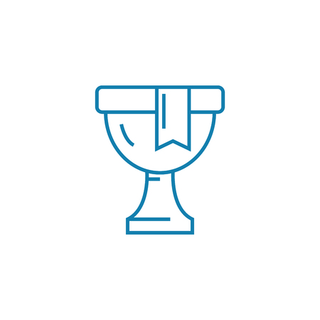Honorable award line icon, vector illustration. Honorable award linear concept sign.