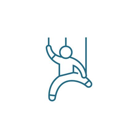 HR management line icon, vector illustration. HR management linear concept sign.