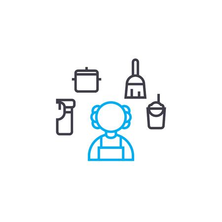 Household line icon, vector illustration. Household linear concept sign. Ilustração