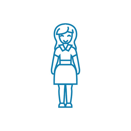 Housewife line icon, vector illustration. Housewife linear concept sign.
