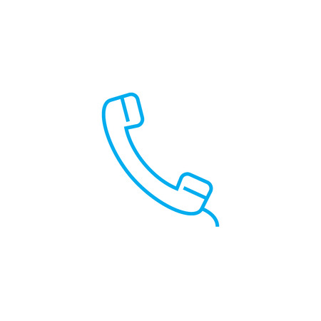 Handset line icon, vector illustration. Handset linear concept sign. Illustration