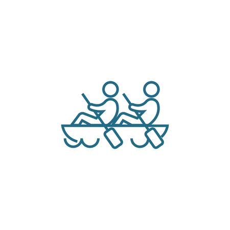 Harmonious work line icon, vector illustration. Harmonious work linear concept sign.