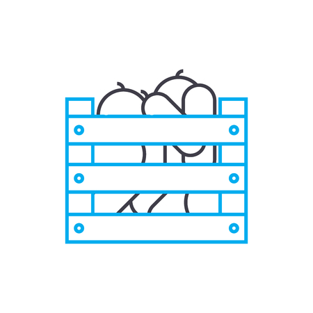 Harvesting line icon, vector illustration. Harvesting linear concept sign. Illustration