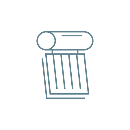 Heating element line icon, vector illustration. Heating element linear concept sign.