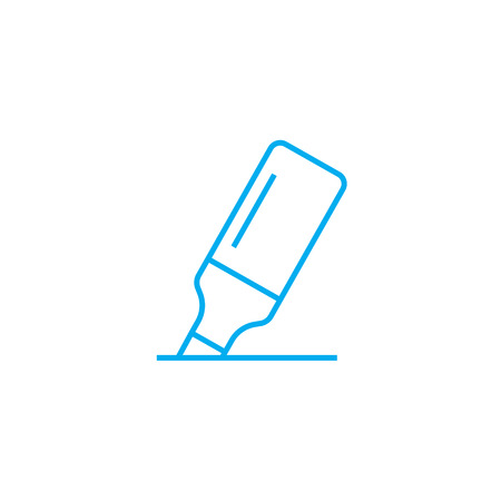 Highlighter line icon, vector illustration. Highlighter linear concept sign.