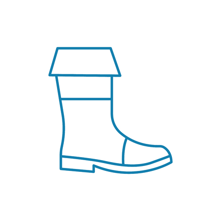 Hiking boots line icon, vector illustration. Hiking boots linear concept sign.
