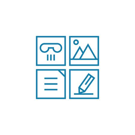Job responsibilities line icon, vector illustration. Job responsibilities linear concept sign.