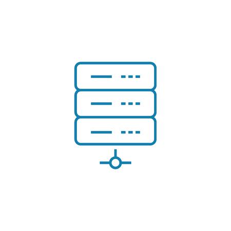Internet server line icon, vector illustration. Internet server linear concept sign.