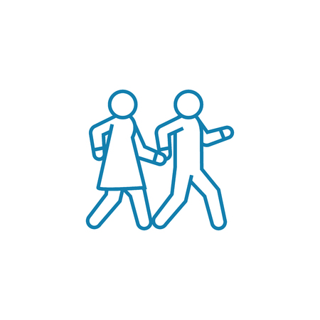 Joint leisure line icon, vector illustration. Joint leisure linear concept sign.