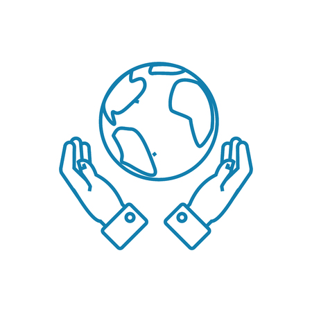 Global opportunities line icon, vector illustration. Global opportunities linear concept sign. Banque d'images - 101964937