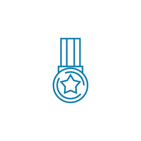 Indicator of success line icon, vector illustration. Indicator of success linear concept sign. Illustration