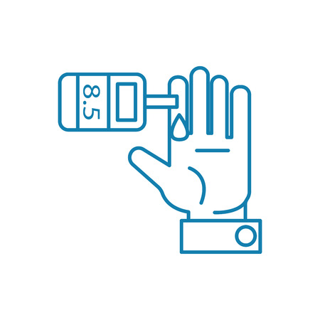 Insulin test line icon, vector illustration. Insulin test linear concept sign.