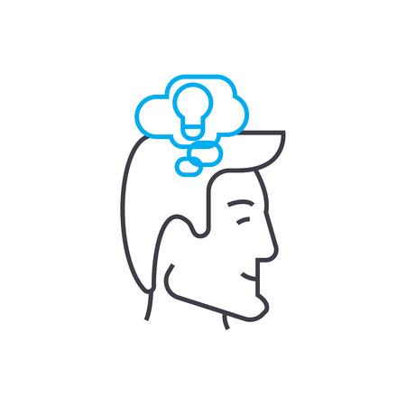 Ideas generator line icon, vector illustration. Ideas generator linear concept sign.