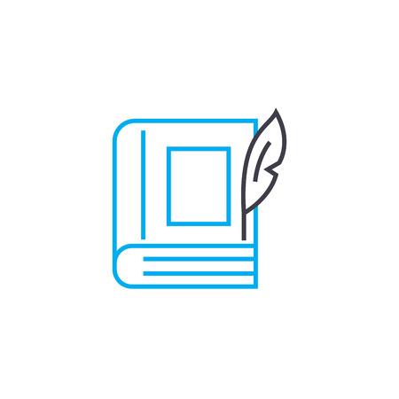 Imaginative literature line icon, vector illustration. Imaginative literature linear concept sign. Imagens - 101937864